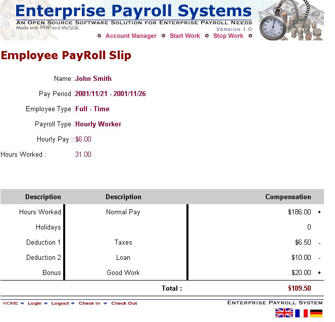 Enterprise Payroll Systems